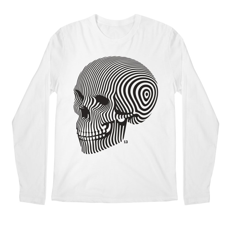 skull no. 1 / blk & wht Men's Longsleeve T-Shirt by Heldenstuff