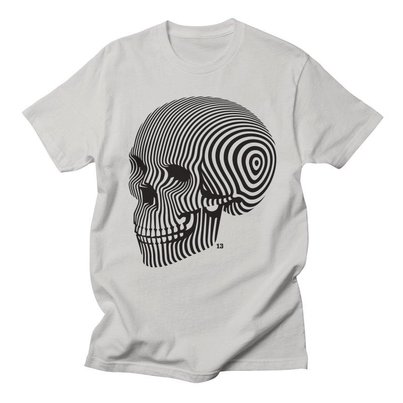 skull no. 1 / blk & wht Men's T-shirt by Heldenstuff