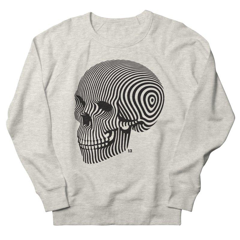 skull no. 1 / blk & wht Men's Sweatshirt by Heldenstuff