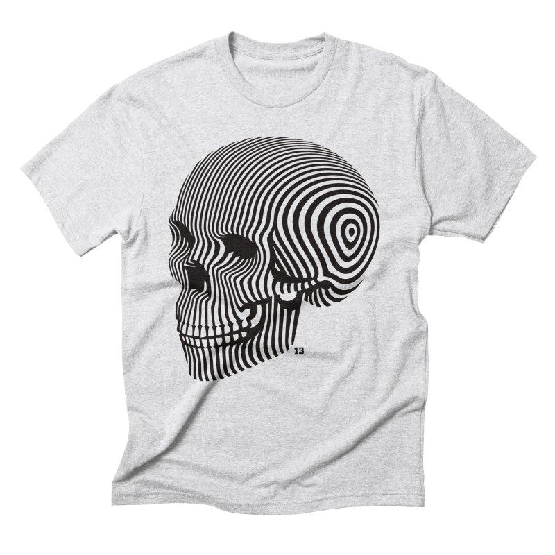 skull no. 1 / blk & wht Men's Triblend T-shirt by Heldenstuff