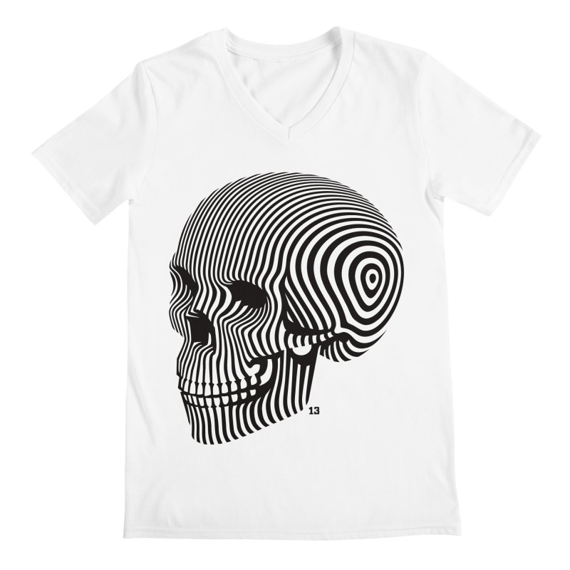 skull no. 1 / blk & wht Men's V-Neck by Heldenstuff