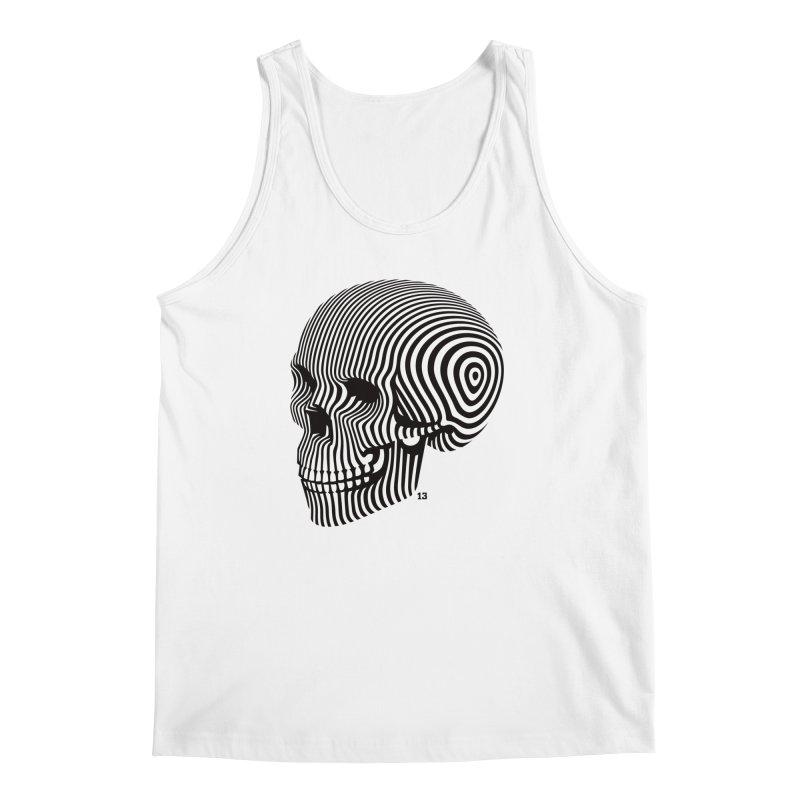 skull no. 1 / blk & wht Men's Tank by Heldenstuff