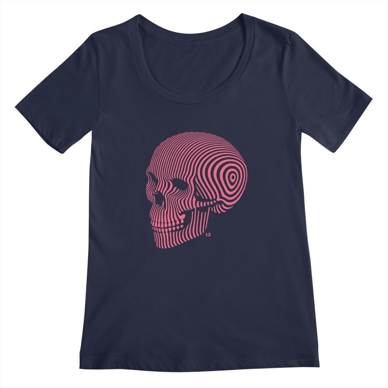skull no. 1 / 812 Women's Scoopneck by Heldenstuff
