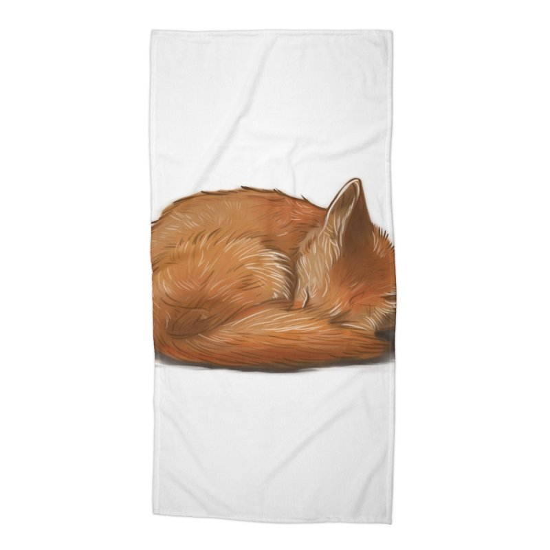 Let Sleeping Foxes Lie Accessories Beach Towel by The Art of Helenasia