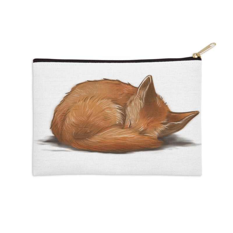 Let Sleeping Foxes Lie Accessories Zip Pouch by The Art of Helenasia