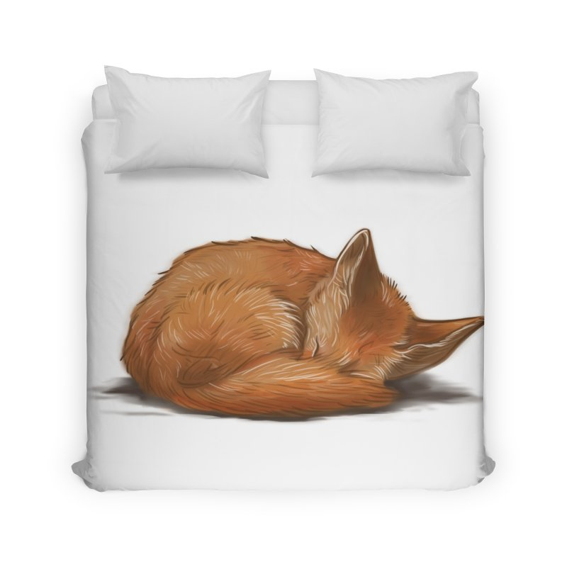 Let Sleeping Foxes Lie Home Duvet by The Art of Helenasia