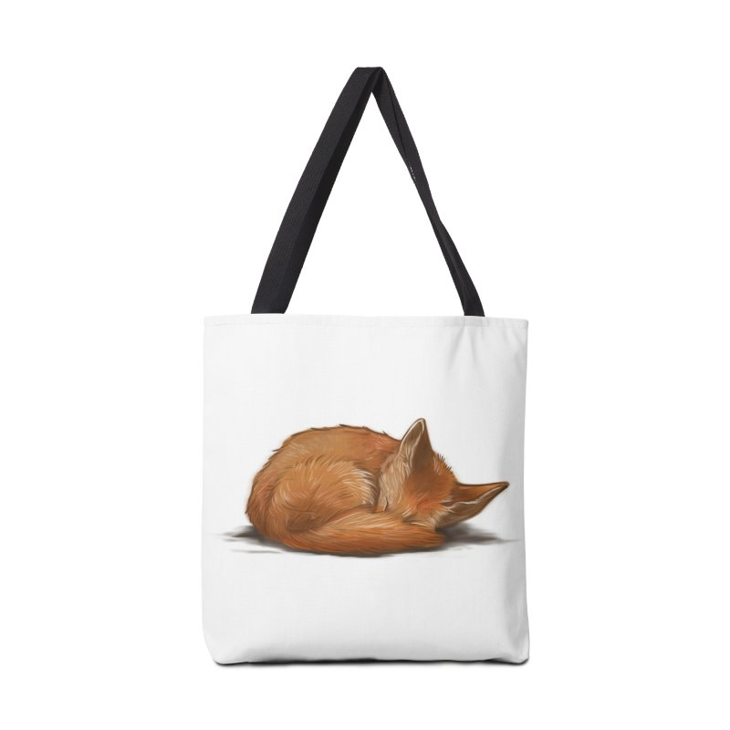 Let Sleeping Foxes Lie Accessories Bag by The Art of Helenasia
