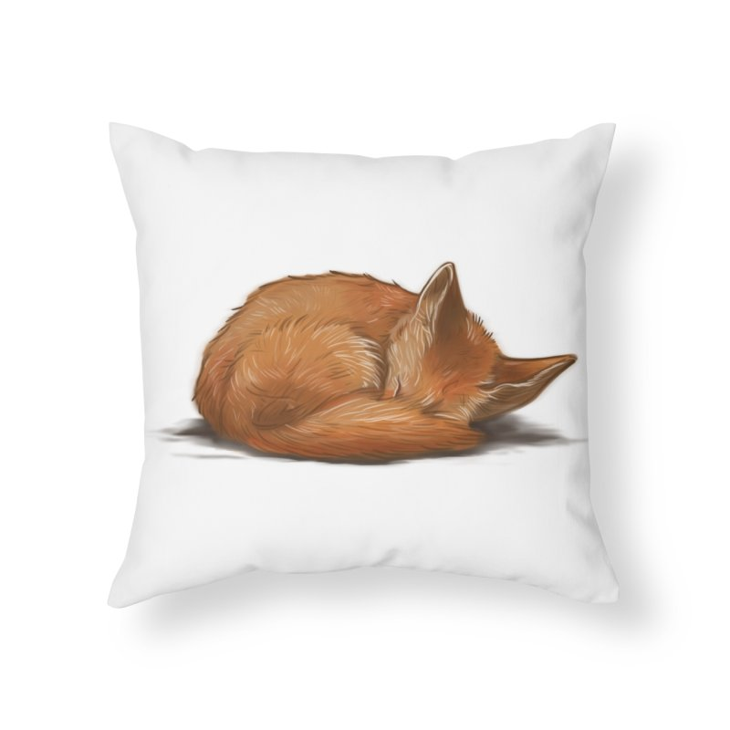 Let Sleeping Foxes Lie Home Throw Pillow by The Art of Helenasia