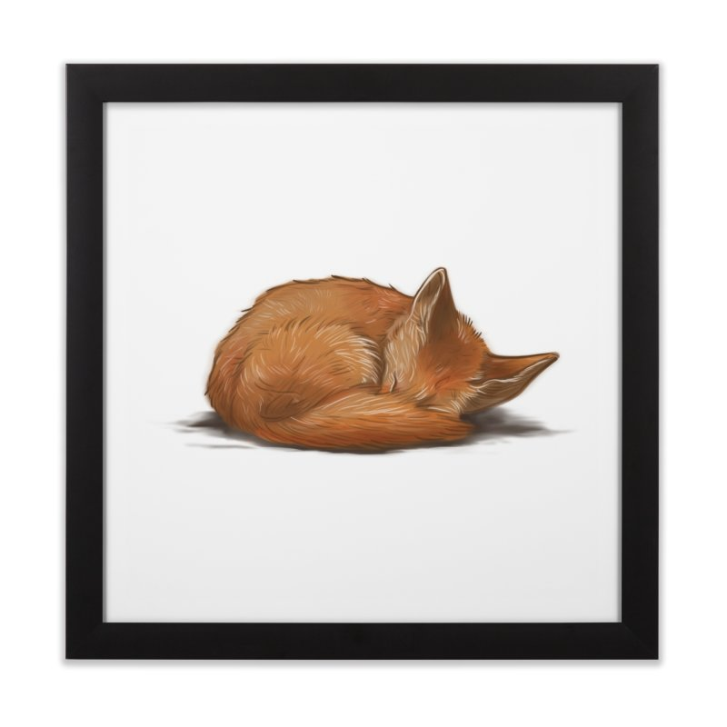 Let Sleeping Foxes Lie Home Framed Fine Art Print by The Art of Helenasia