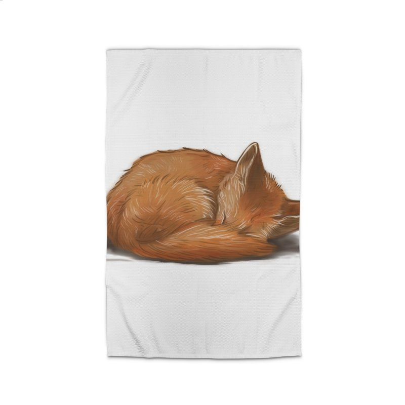 Let Sleeping Foxes Lie Home Rug by The Art of Helenasia
