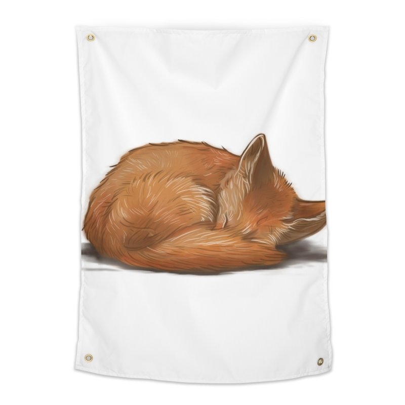 Let Sleeping Foxes Lie Home Tapestry by The Art of Helenasia