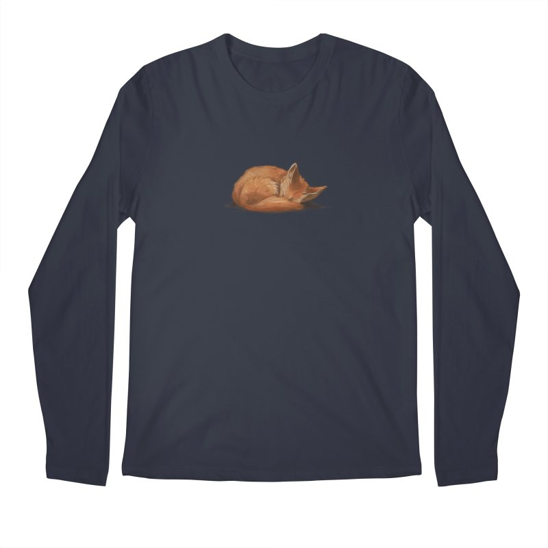 Let Sleeping Foxes Lie Men's Longsleeve T-Shirt by The Art of Helenasia