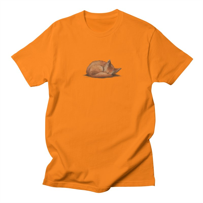 Let Sleeping Foxes Lie Men's T-Shirt by The Art of Helenasia