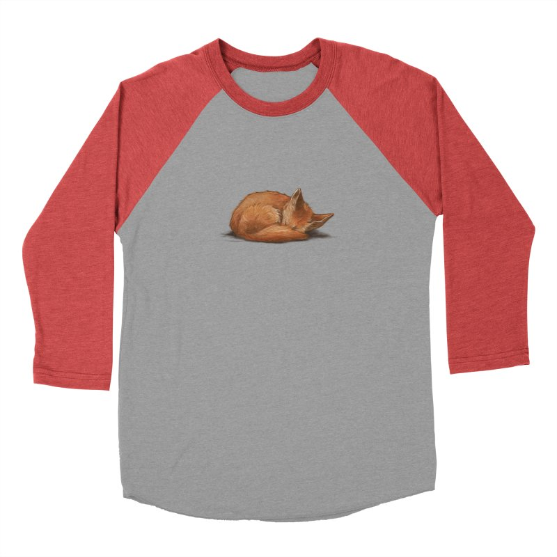 Let Sleeping Foxes Lie Men's Baseball Triblend T-Shirt by The Art of Helenasia