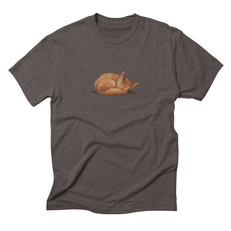 Let Sleeping Foxes Lie Men's Triblend T-shirt by The Art of Helenasia