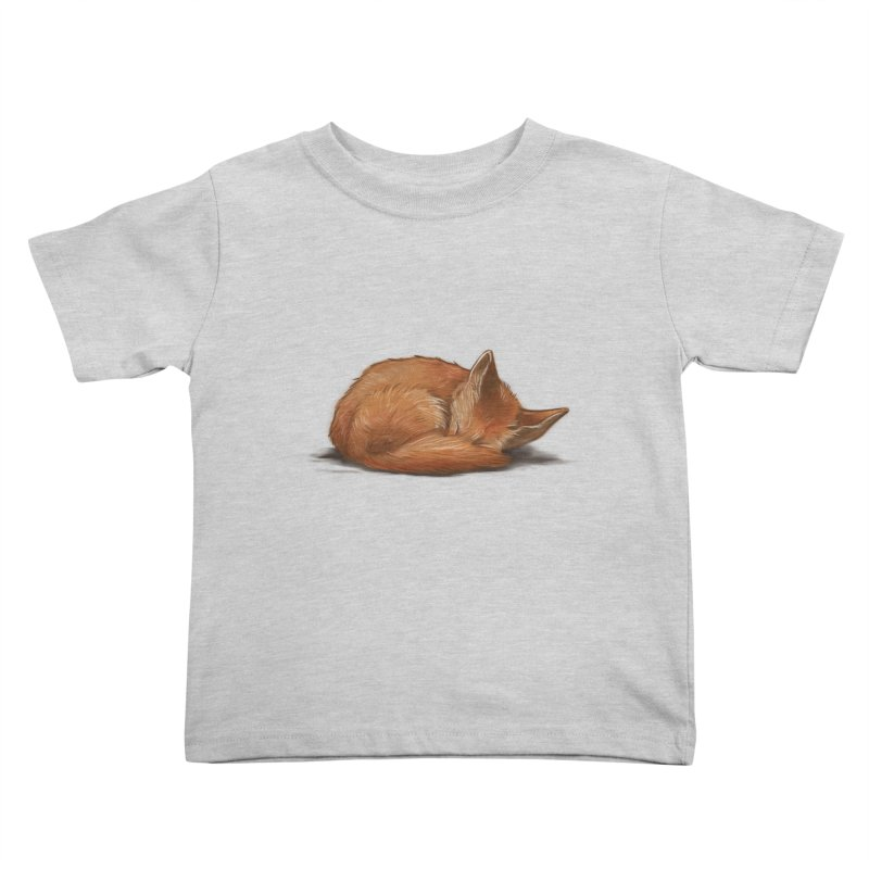 Let Sleeping Foxes Lie Kids Toddler T-Shirt by The Art of Helenasia