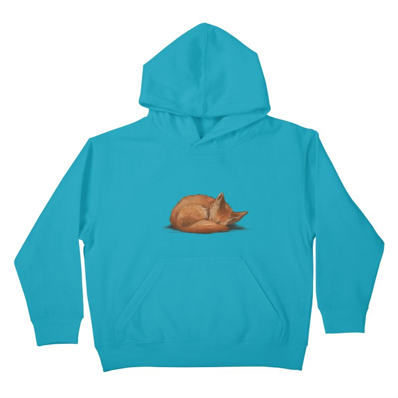 Let Sleeping Foxes Lie Kids Pullover Hoody by The Art of Helenasia