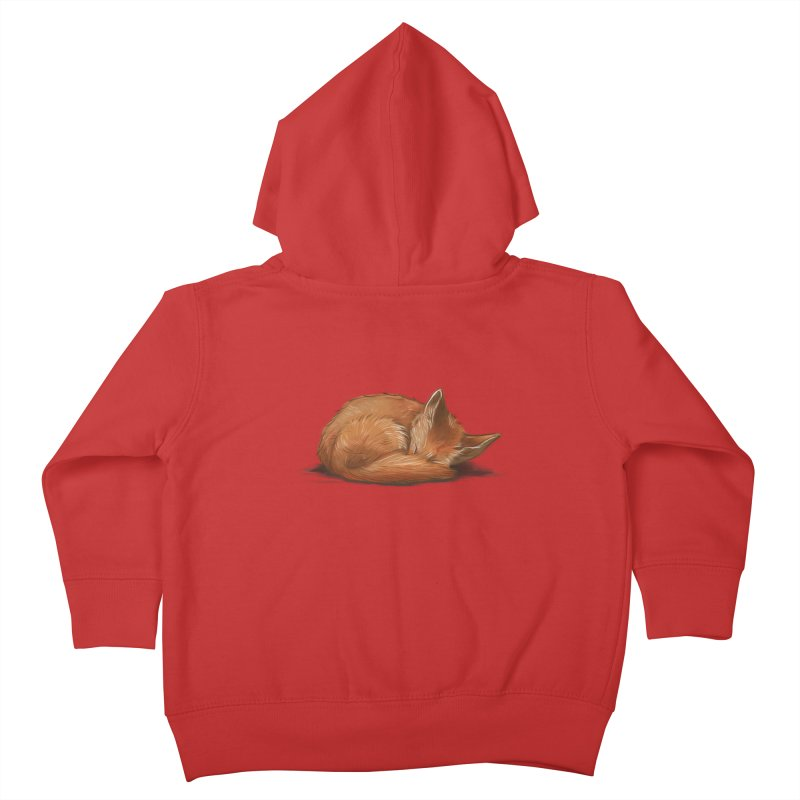 Let Sleeping Foxes Lie Kids Toddler Zip-Up Hoody by The Art of Helenasia