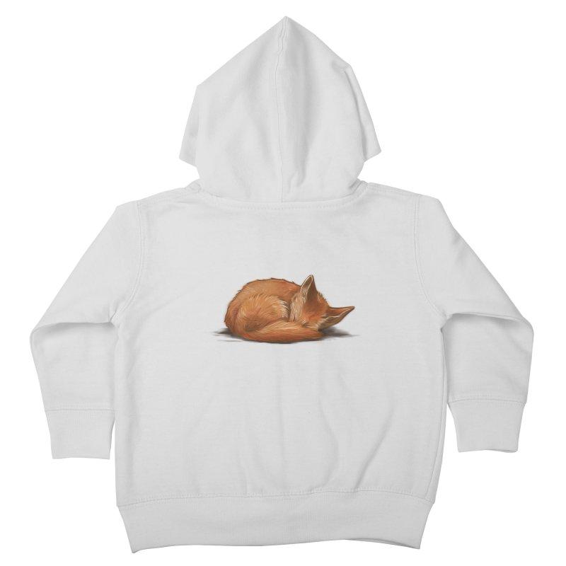 Let Sleeping Foxes Lie Kids Toddler Zip-Up Hoody by The Art of Helenasia