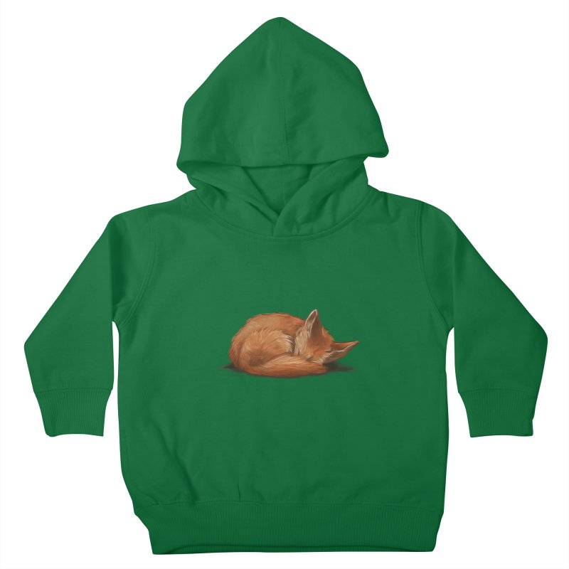 Let Sleeping Foxes Lie Kids Toddler Pullover Hoody by The Art of Helenasia