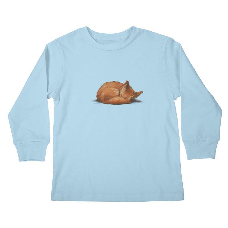 Let Sleeping Foxes Lie Kids Longsleeve T-Shirt by The Art of Helenasia