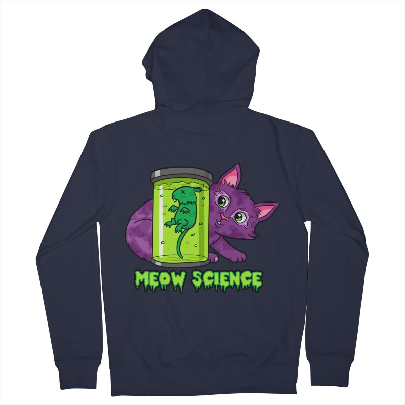 Meow Science Men's Zip-Up Hoody by The Art of Helenasia