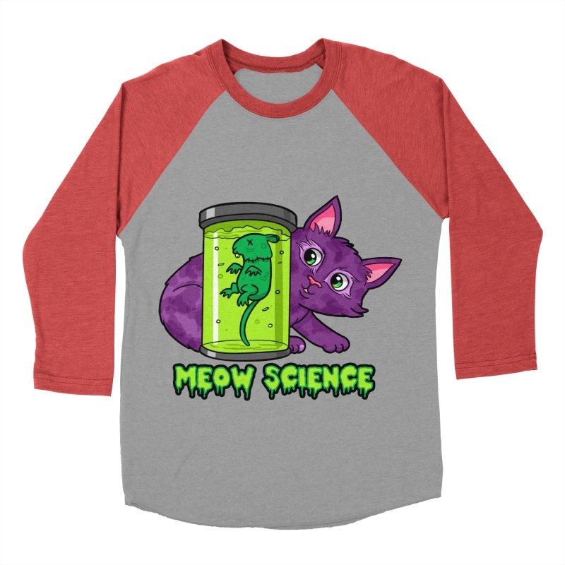 Meow Science Women's Baseball Triblend T-Shirt by The Art of Helenasia