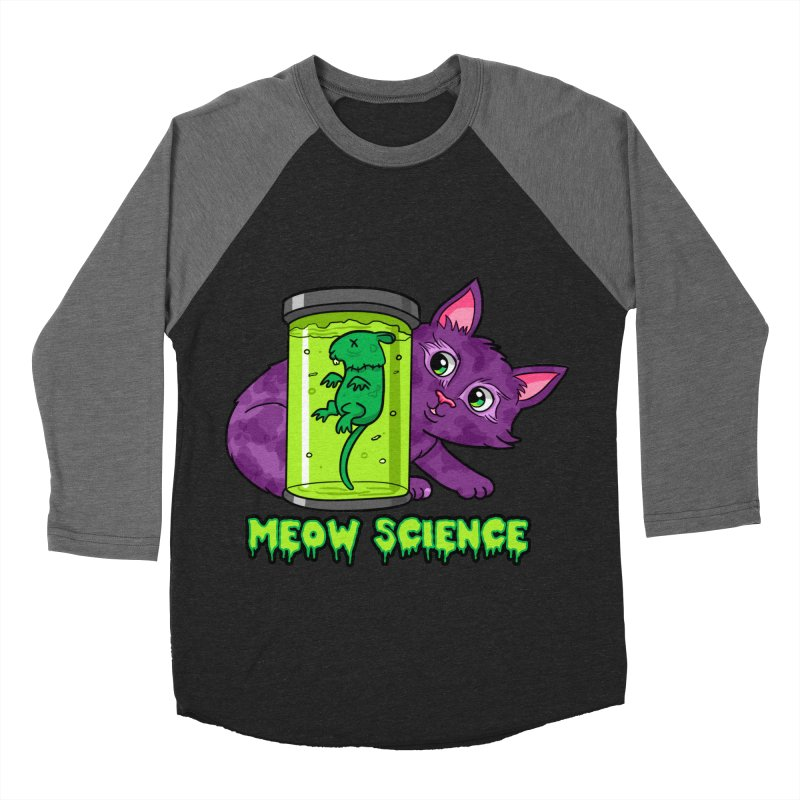 Meow Science Men's Baseball Triblend T-Shirt by The Art of Helenasia