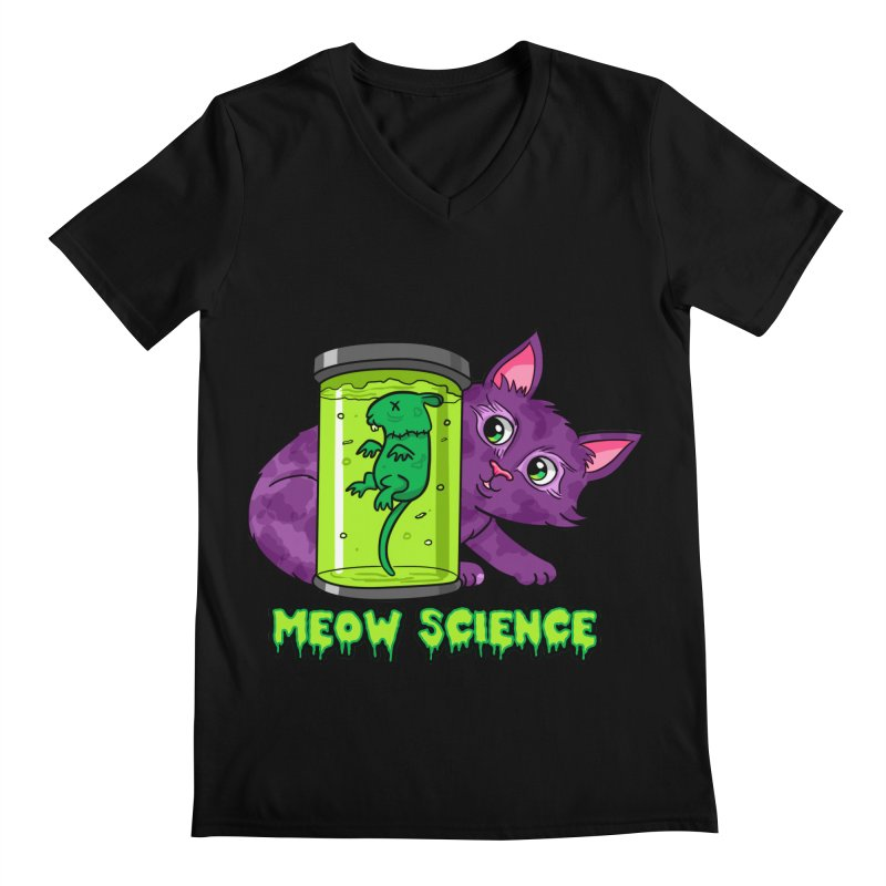 Meow Science Men's V-Neck by The Art of Helenasia
