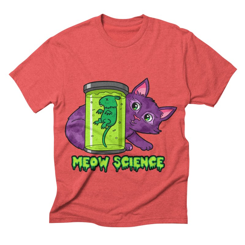 Meow Science Men's Triblend T-shirt by The Art of Helenasia
