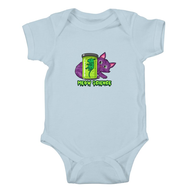 Meow Science Kids Baby Bodysuit by The Art of Helenasia