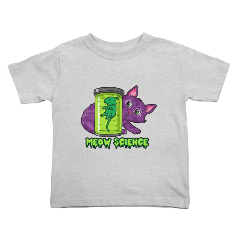 Meow Science Kids Toddler T-Shirt by The Art of Helenasia