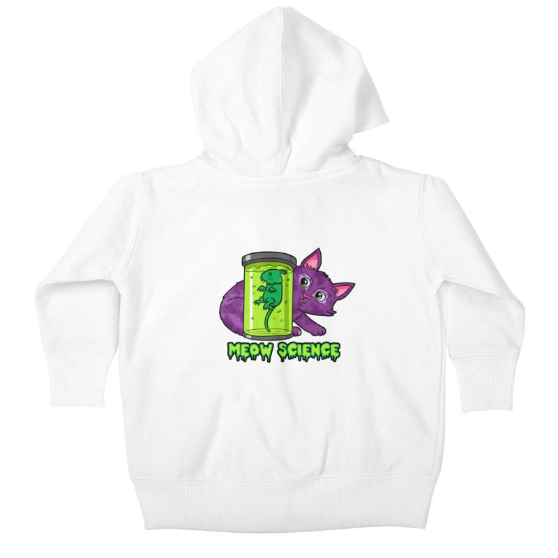 Meow Science Kids Baby Zip-Up Hoody by The Art of Helenasia