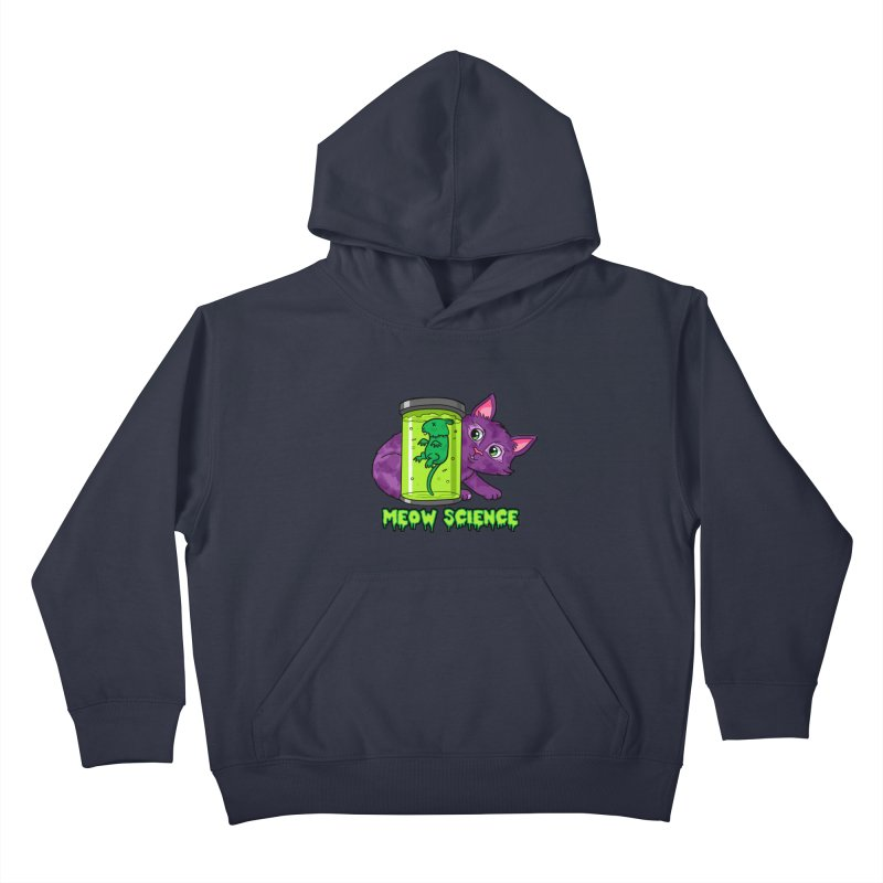 Meow Science Kids Pullover Hoody by The Art of Helenasia