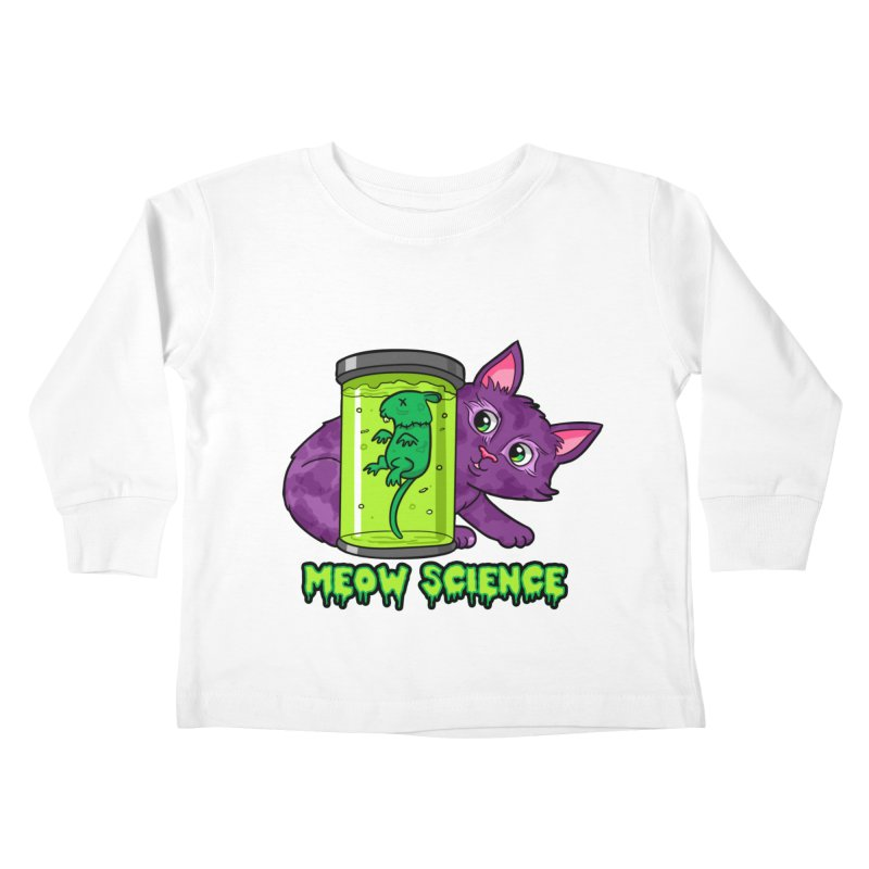 Meow Science Kids Toddler Longsleeve T-Shirt by The Art of Helenasia