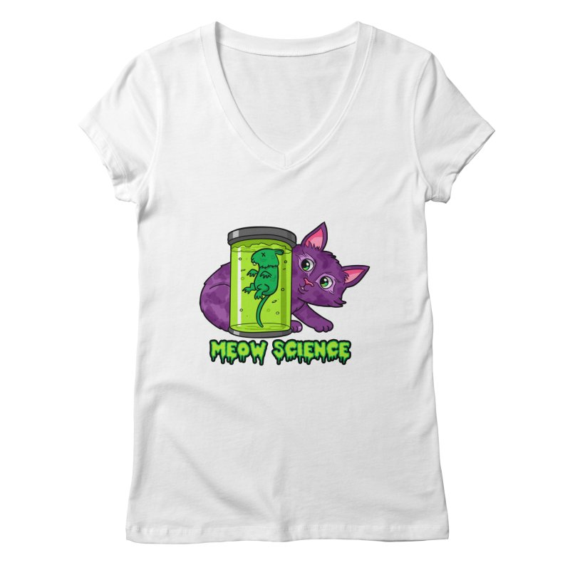 Meow Science Women's V-Neck by The Art of Helenasia