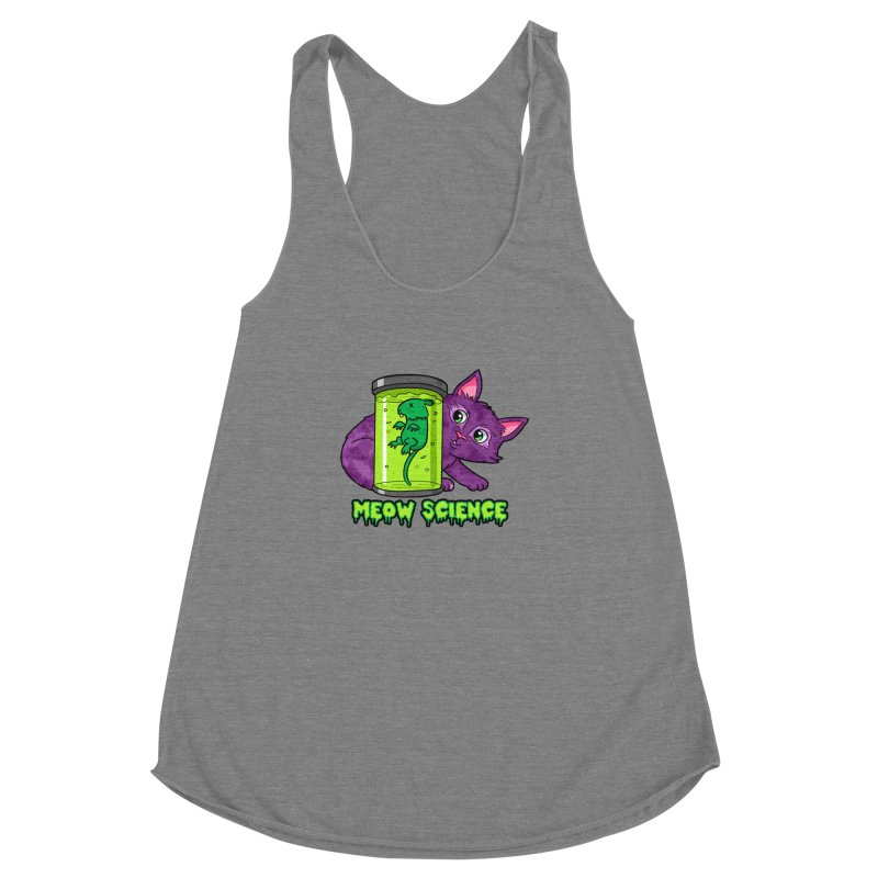 Meow Science Women's Racerback Triblend Tank by The Art of Helenasia