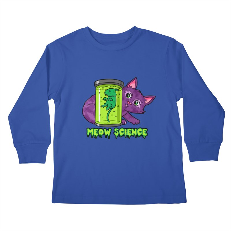 Meow Science Kids Longsleeve T-Shirt by The Art of Helenasia
