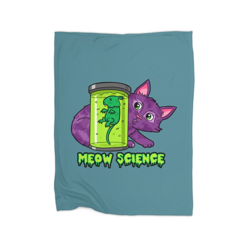 Meow Science Home Blanket by The Art of Helenasia
