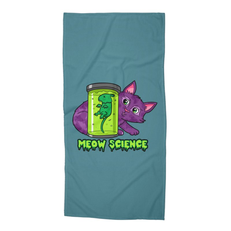 Meow Science Accessories Beach Towel by The Art of Helenasia
