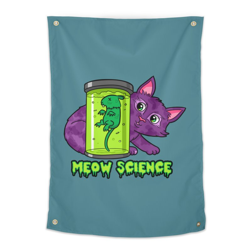 Meow Science Home Tapestry by The Art of Helenasia