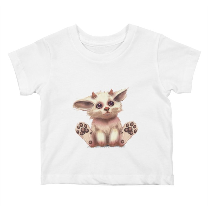 Foxling  Kids Baby T-Shirt by The Art of Helenasia