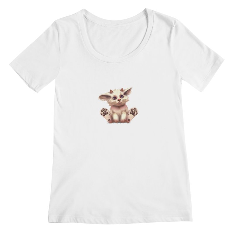 Foxling  Women's Scoopneck by The Art of Helenasia