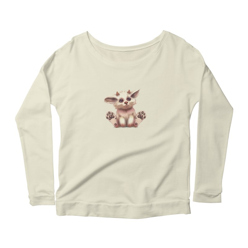 Foxling  Women's Longsleeve Scoopneck  by The Art of Helenasia