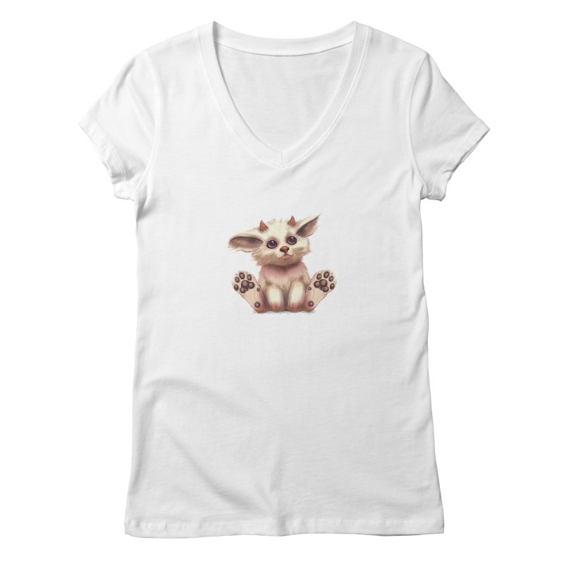Foxling  Women's V-Neck by The Art of Helenasia