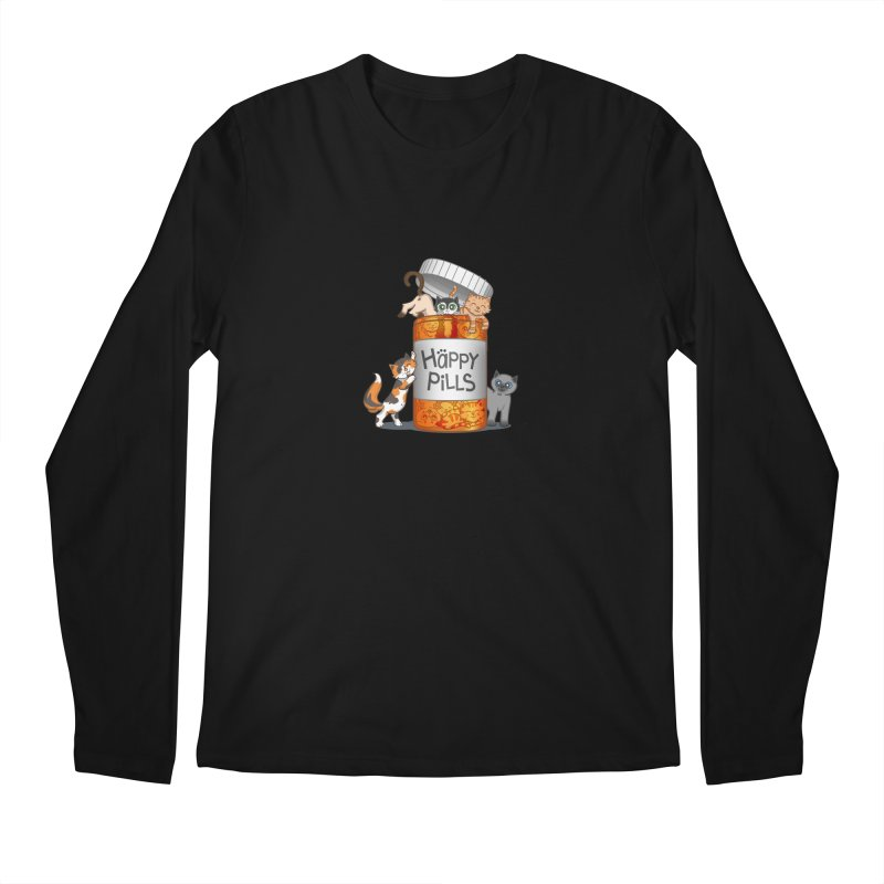 Happy Pills Men's Longsleeve T-Shirt by The Art of Helenasia