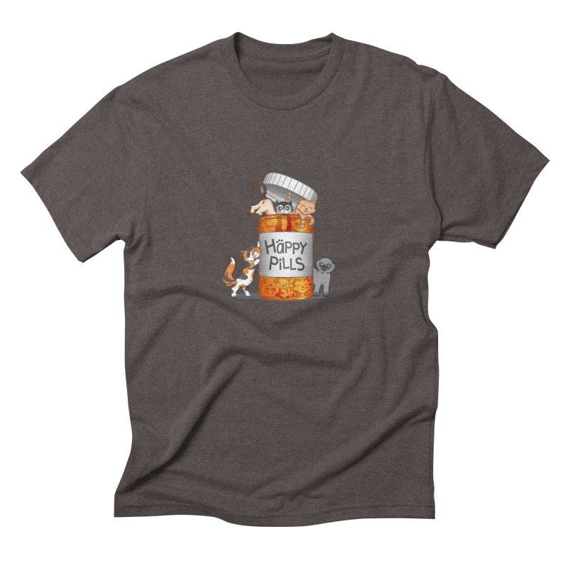 Happy Pills Men's Triblend T-shirt by The Art of Helenasia