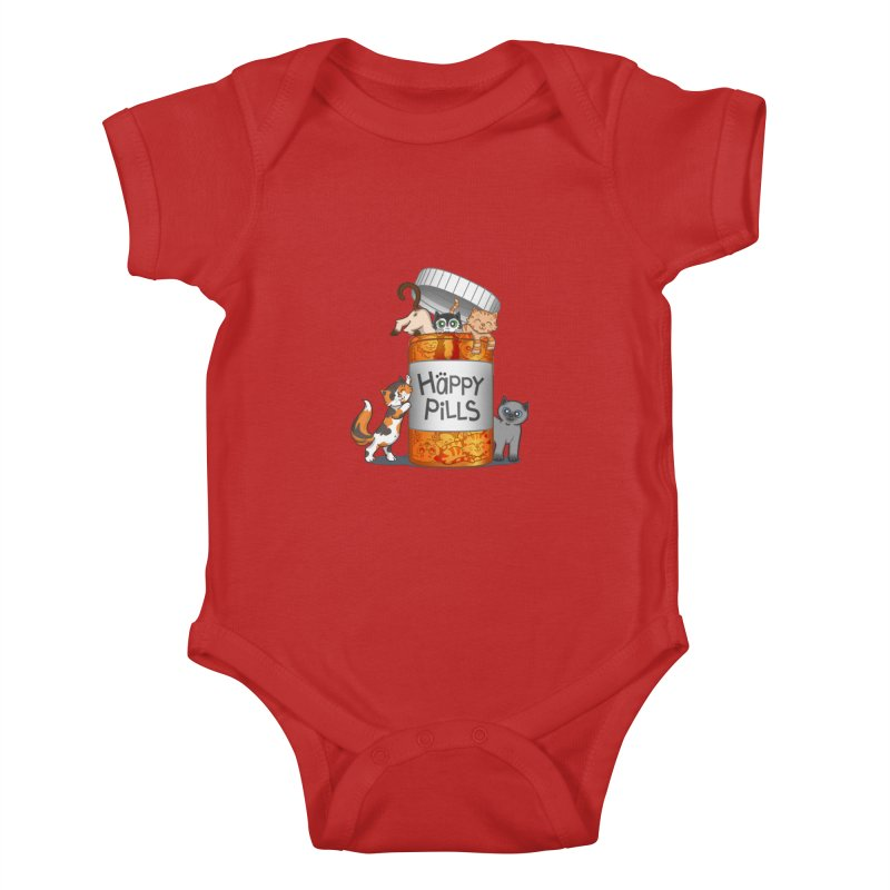 Happy Pills Kids Baby Bodysuit by The Art of Helenasia