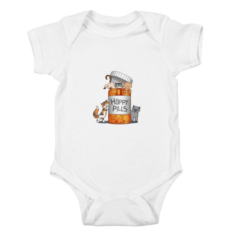 Happy Pills Kids Baby Bodysuit by The Art of Helenasia