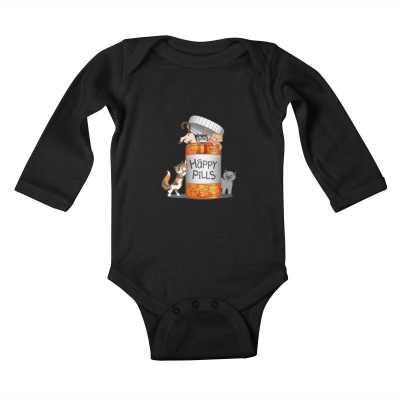 Happy Pills Kids Baby Longsleeve Bodysuit by The Art of Helenasia